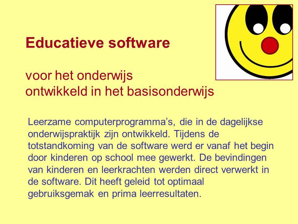 Educatieve software voor het onderwijs ontwikkeld in het basisonderwijs Leerzame computerprogramma's, die in de dagelijkse onderwijspraktijk zijn ontw