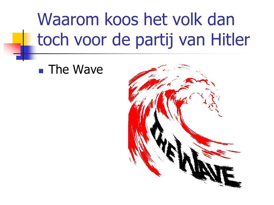 Waarom koos het volk dan toch voor de partij van Hitler  The Wave