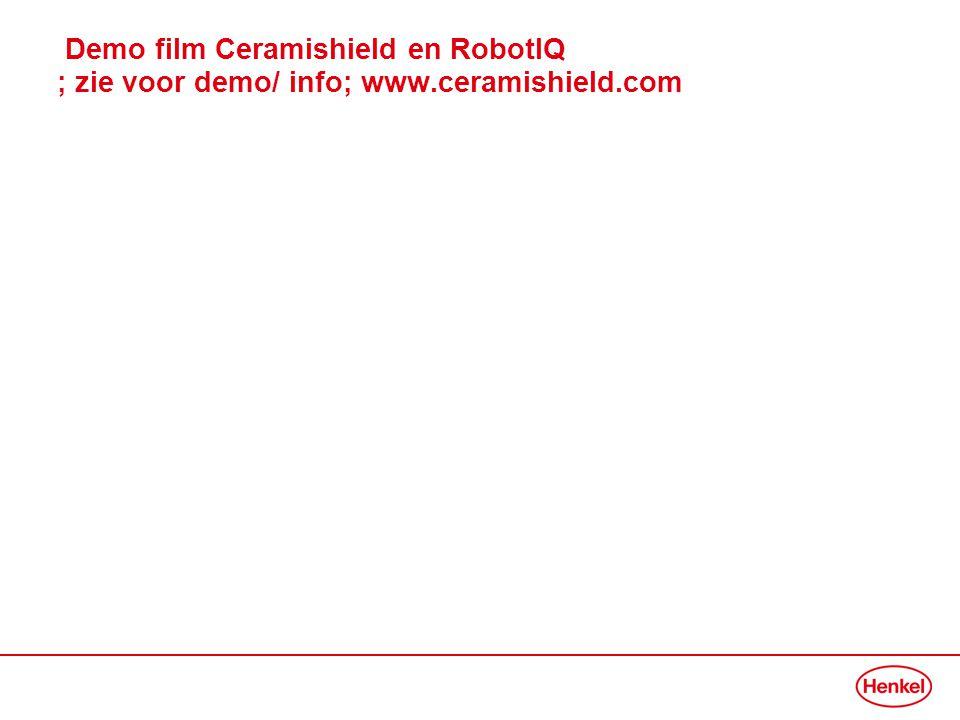 Demo film Ceramishield en RobotIQ ; zie voor demo/ info; www.ceramishield.com