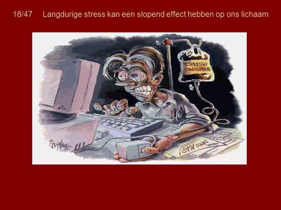 18/47 Langdurige stress kan een slopend effect hebben op ons lichaam