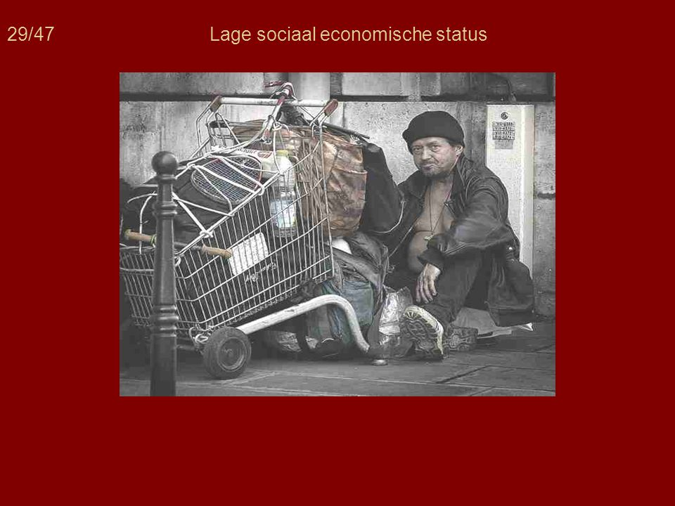 29/47Lage sociaal economische status