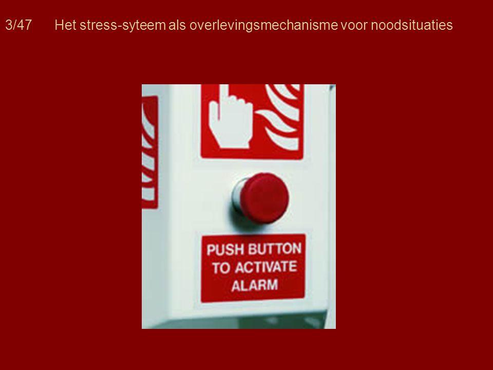 3/47Het stress-syteem als overlevingsmechanisme voor noodsituaties