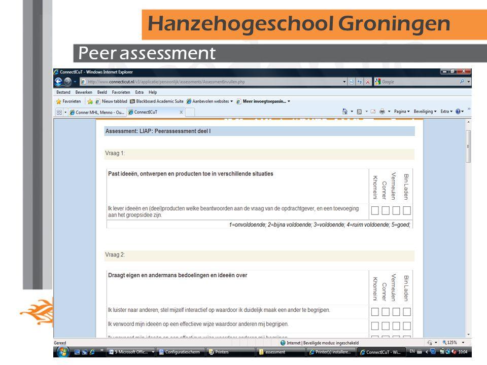 Peer assessment Hanzehogeschool Groningen