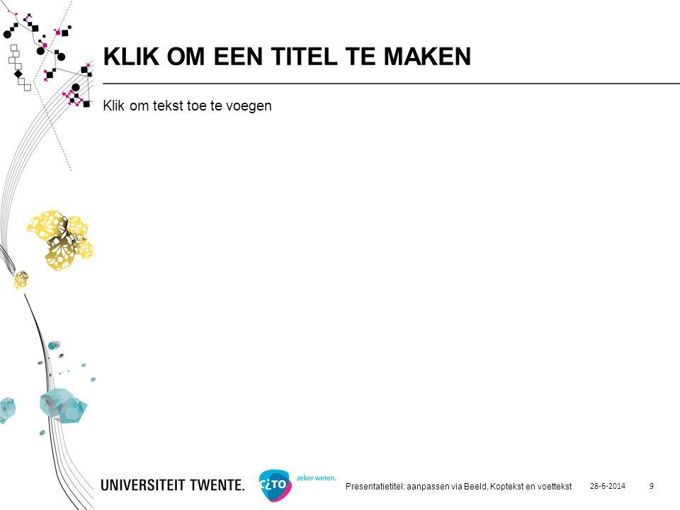 28-6-2014 Presentatietitel: aanpassen via Beeld, Koptekst en voettekst 10 GRAFIEKDIA - TAARTGRAFIEK