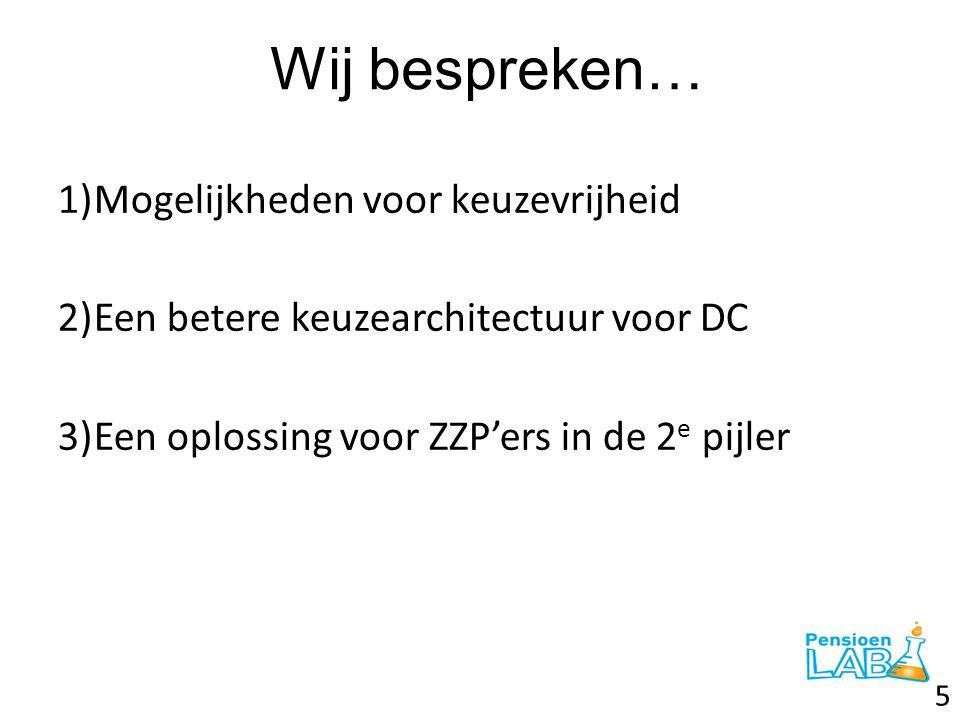De ZZP'ers in kaart Bron: www.var-advies.nl 26