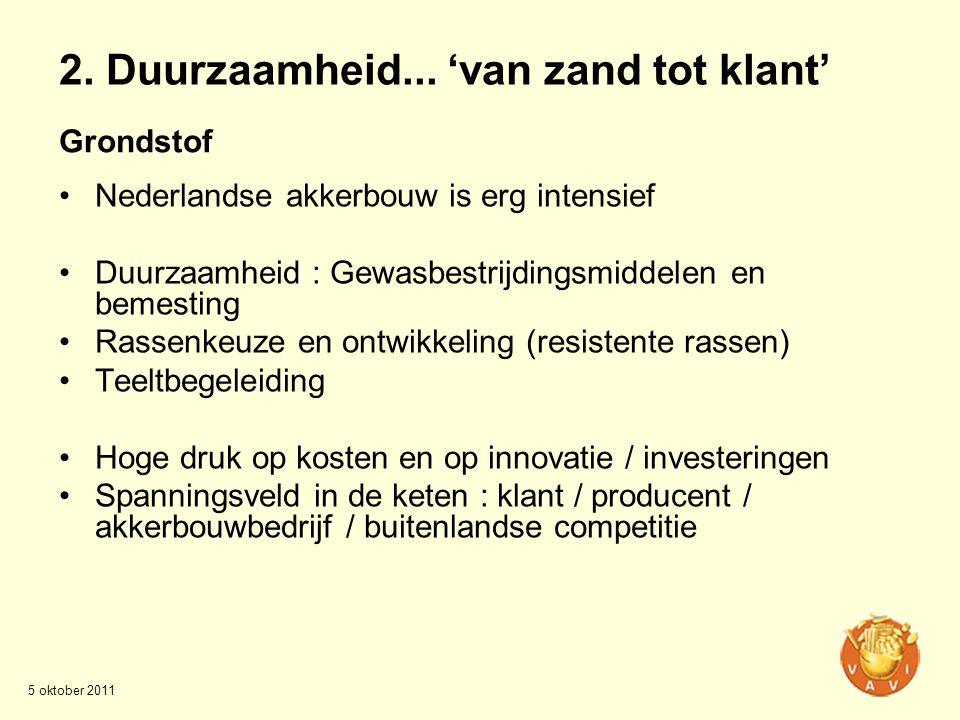 Grondstof •Nederlandse akkerbouw is erg intensief •Duurzaamheid : Gewasbestrijdingsmiddelen en bemesting •Rassenkeuze en ontwikkeling (resistente rass