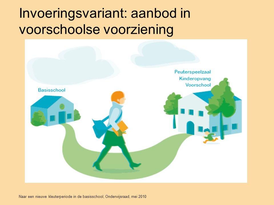 Naar een nieuwe kleuterperiode in de basisschool, Onderwijsraad, mei 2010 Invoeringsvariant: aanbod in voorschoolse voorziening