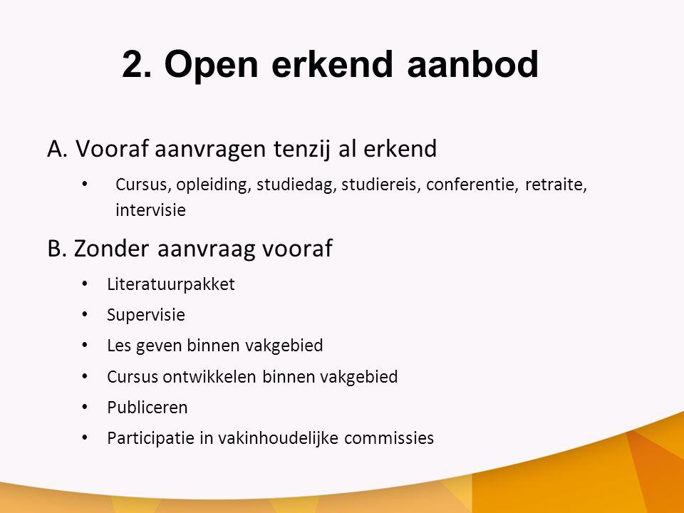 2.Open erkend aanbod A.