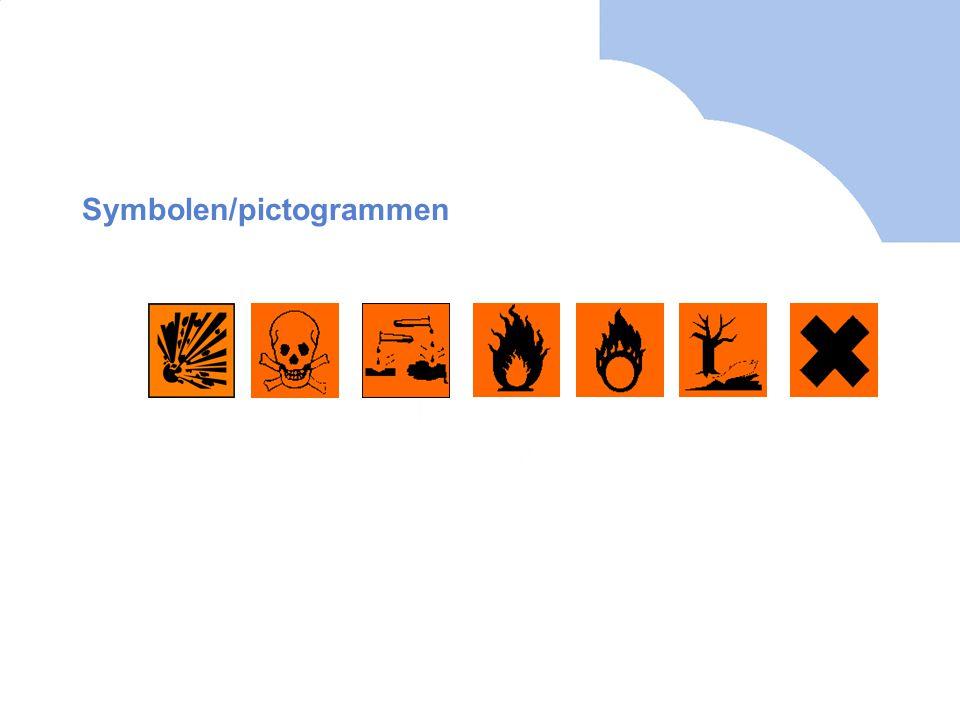 Symbolen/pictogrammen