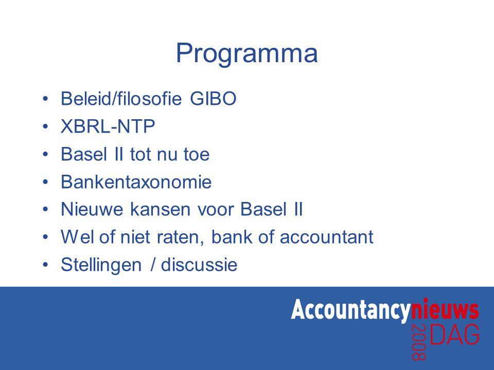 Nog in ontwikkeling •Prospectieve informatie •Startende ondernemers •Aansluiting overige banken •Techniek –Berichtenverkeer met banken –Koppeling aan bankinterne systemen •Scope eind 2009