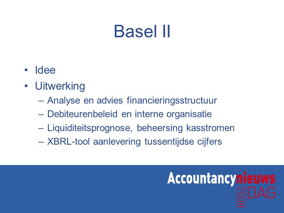 Bankentaxonomie •Bankentaxonomie wordt ontwikkeld •Aansluiting XBRL-tool •Nieuwe kansen dienstverlening •Nu: gestructureerd oppakken