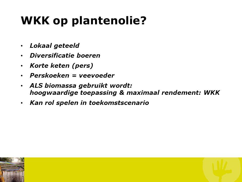 WKK op plantenolie.