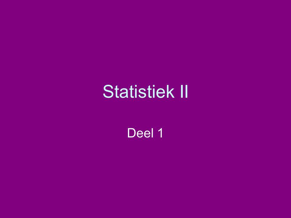 Statistiek II Deel 1