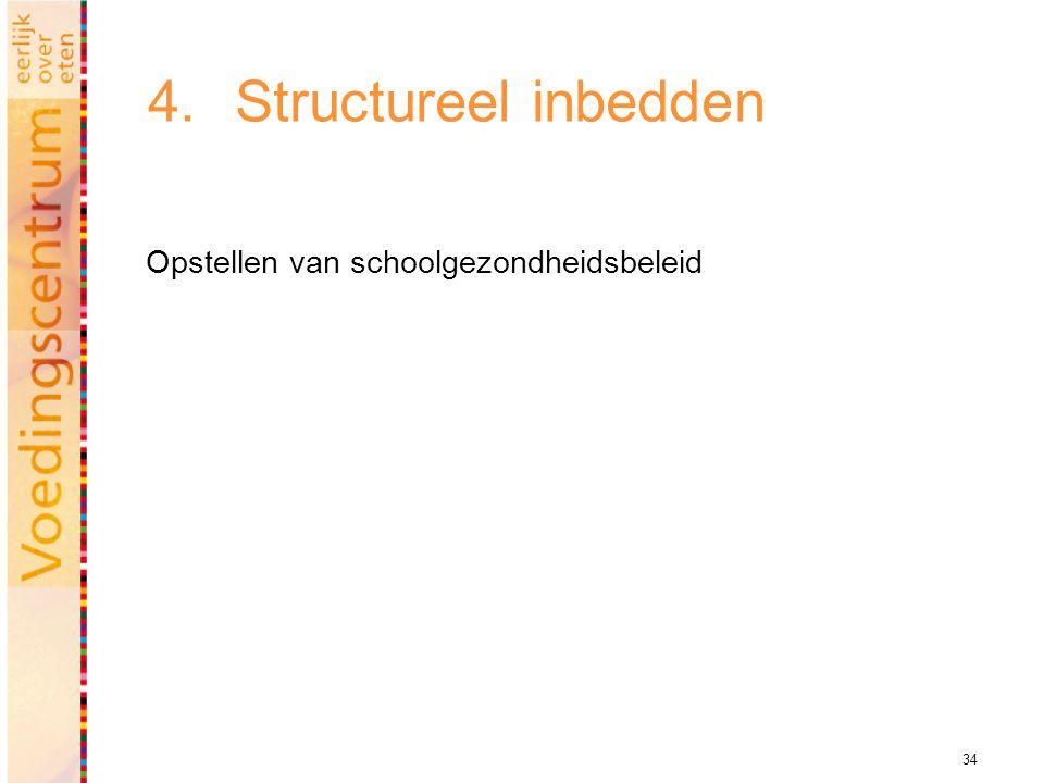 34 4.Structureel inbedden Opstellen van schoolgezondheidsbeleid