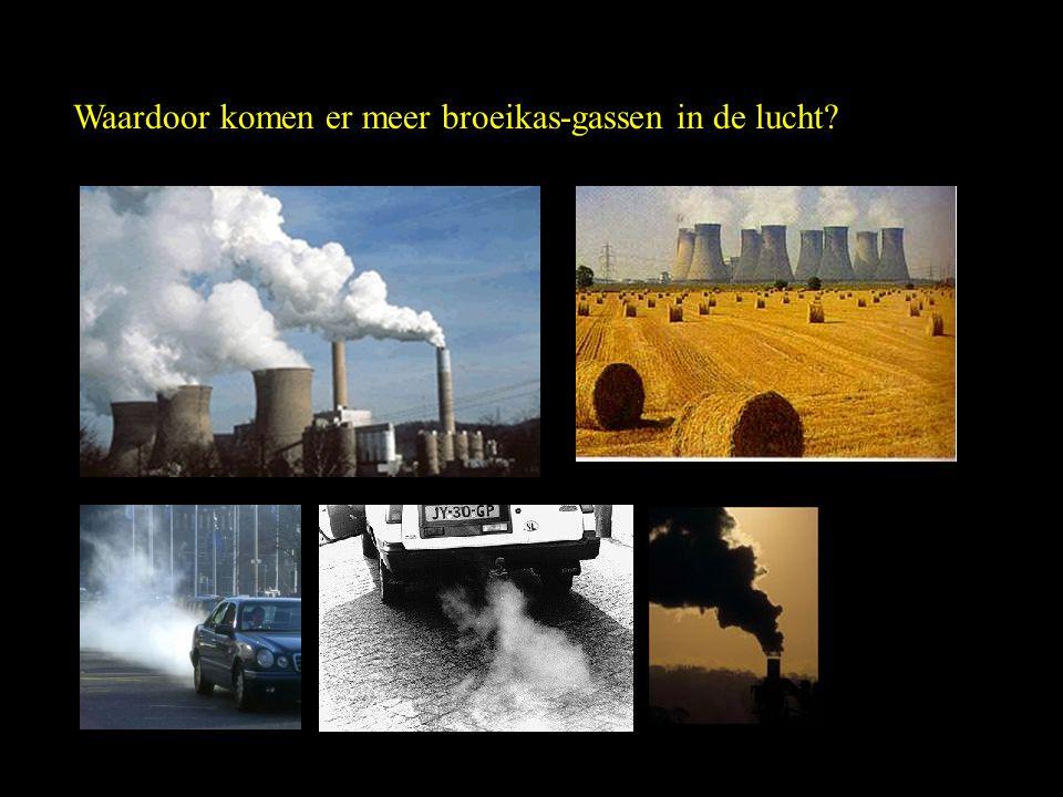 Waardoor komen er meer broeikas-gassen in de lucht?