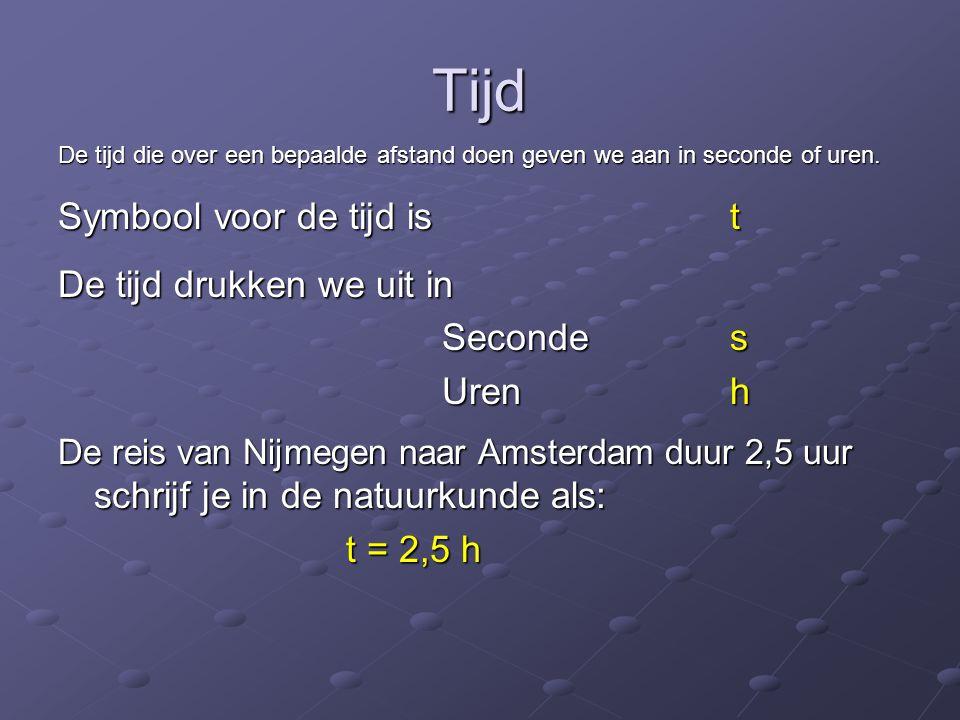 Snelheid De snelheid is de factor in een verhoudingsgetal.