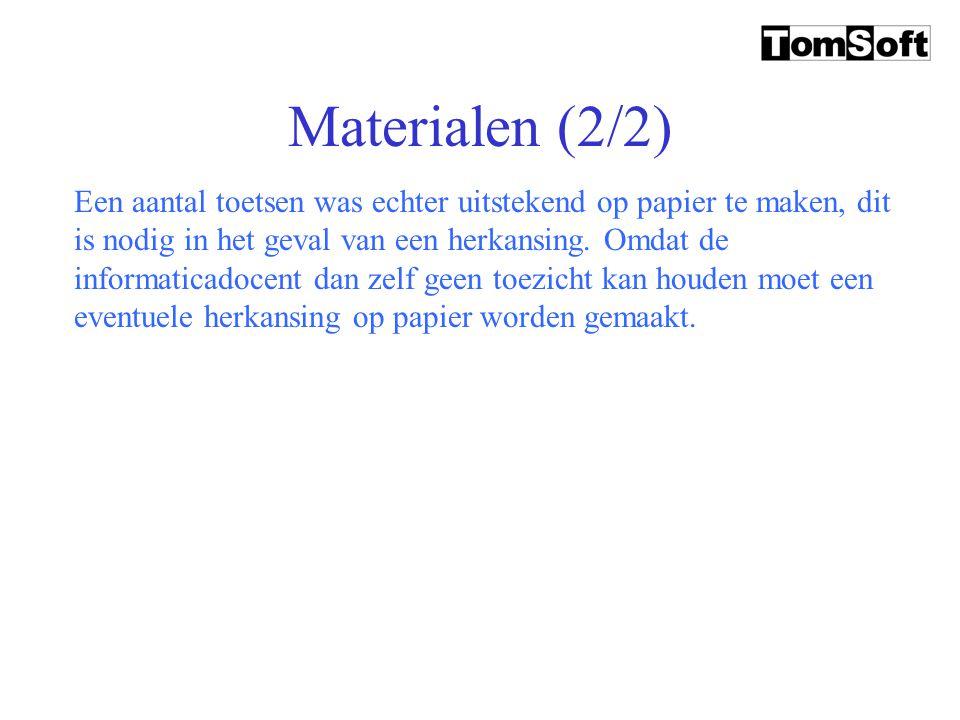 Materialen (1/2) De materialen die gebruikt worden blijven meestal beperkt bij de computer en de twee lesboeken (in elk jaar één). De docent heeft een