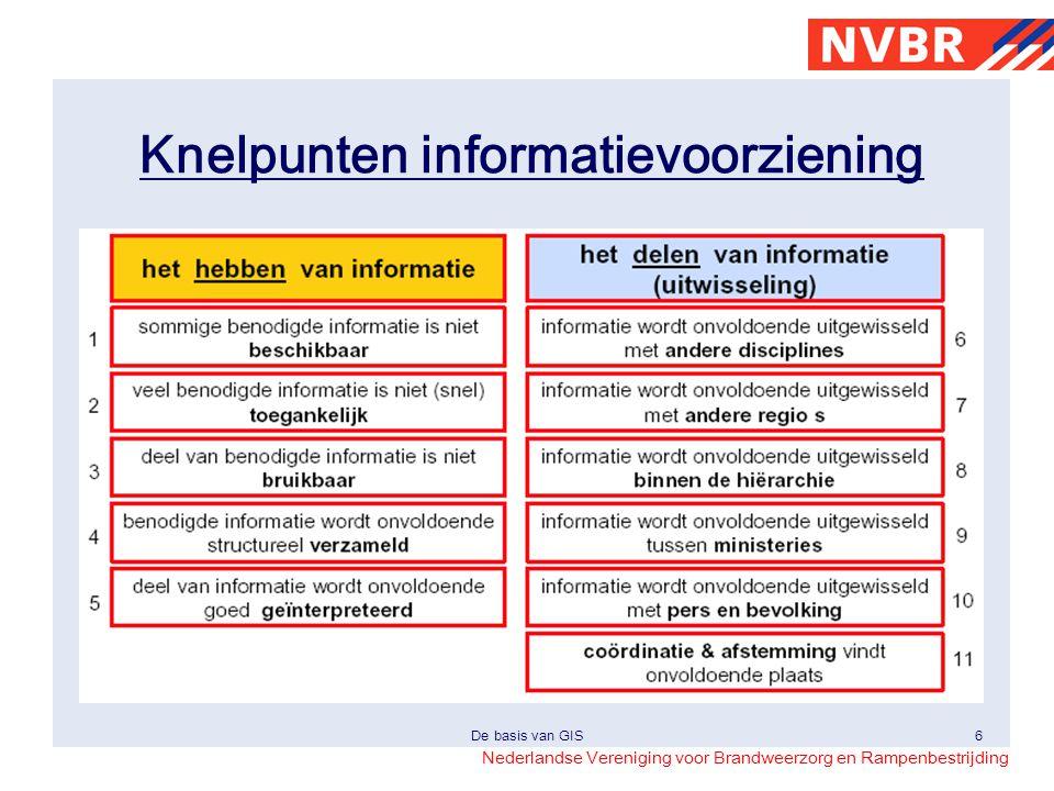Nederlandse Vereniging voor Brandweerzorg en Rampenbestrijding De basis van GIS7 Aanbevelingen ACIR