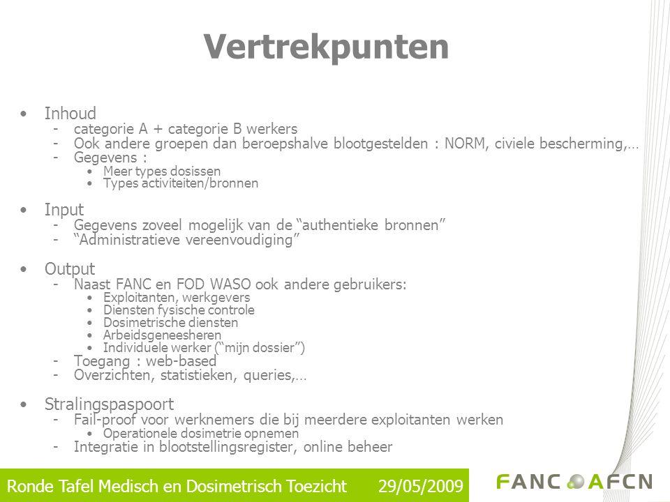 Ronde Tafel Medisch en Dosimetrisch Toezicht 29/05/2009 •Inhoud -categorie A + categorie B werkers -Ook andere groepen dan beroepshalve blootgestelden