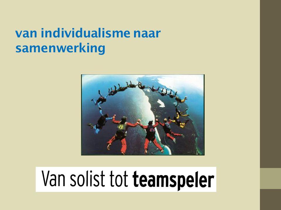 van individualisme naar samenwerking