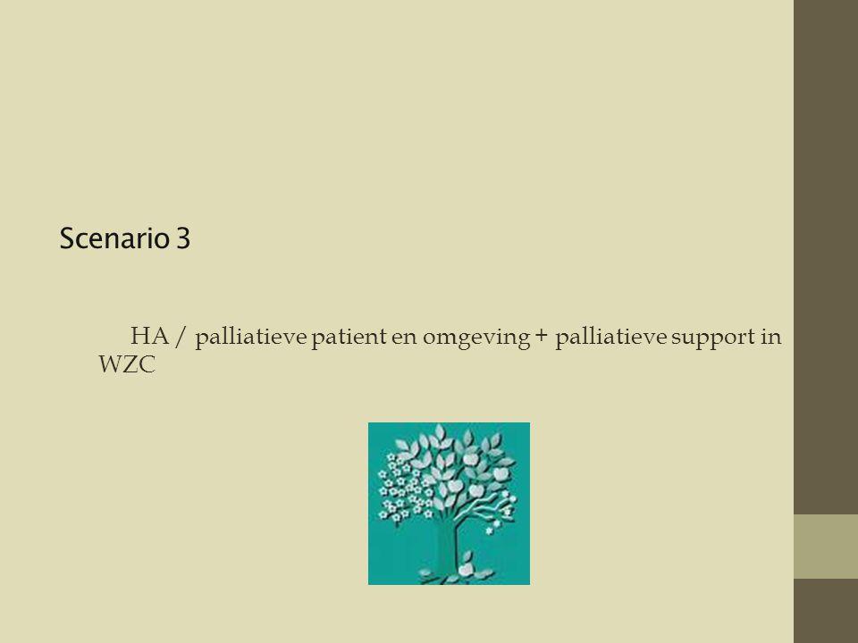 Scenario 3 HA / palliatieve patient en omgeving + palliatieve support in WZC