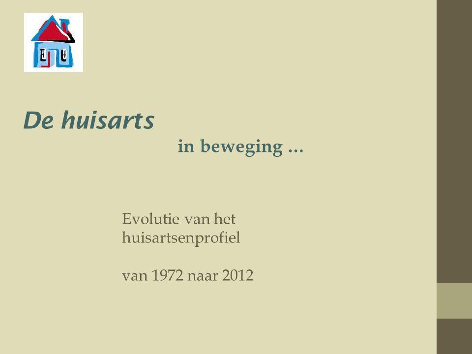 De huisarts in beweging … Evolutie van het huisartsenprofiel van 1972 naar 2012