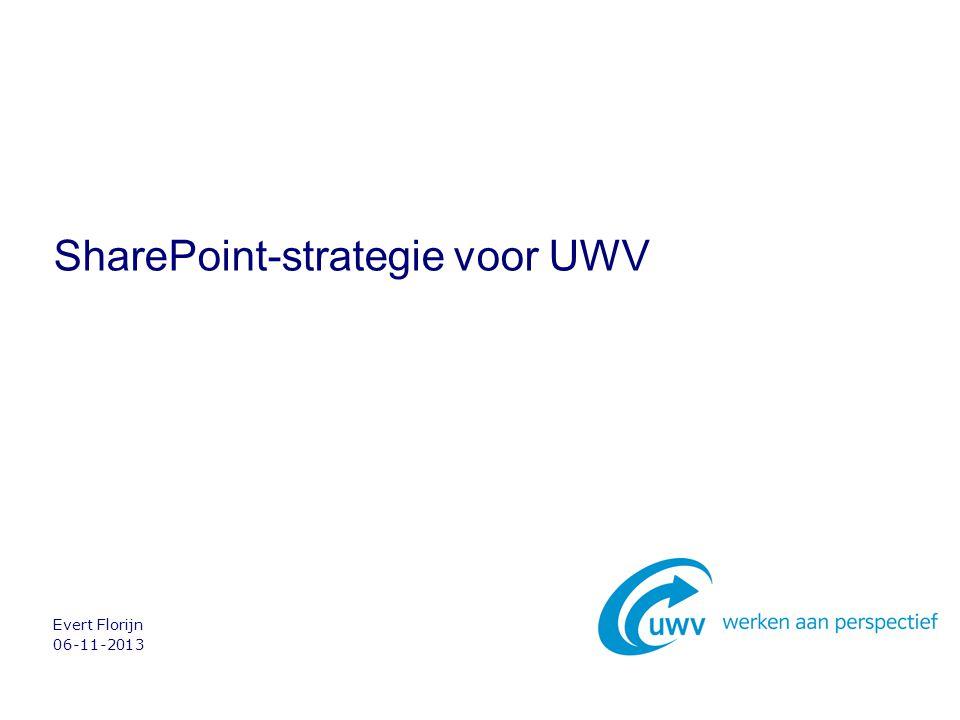 06-11-2013 Evert Florijn SharePoint-strategie voor UWV