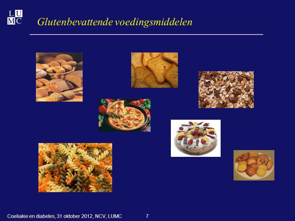 48 Verdere informatie Voor patiënten:  www.glutenvrij.nl ; info@glutenvrij.nl ; dietist@glutenvrij.nl  www.dvn.nl ; info@dvn.nl ; Diabeteslijn 033-4630566  www.voedingscentrum.nl Voor diëtisten of andere professionals: Diëtisten Info Netwerk Coeliakie (DINC)  www.dinc-online.nl ; info@dinc-online.nl  www.dnodietist.nl ; dno@nvdietist.nl  www.voedingscentrum.nl Coeliakie en diabetes, 31 oktober 2012, NCV, LUMC