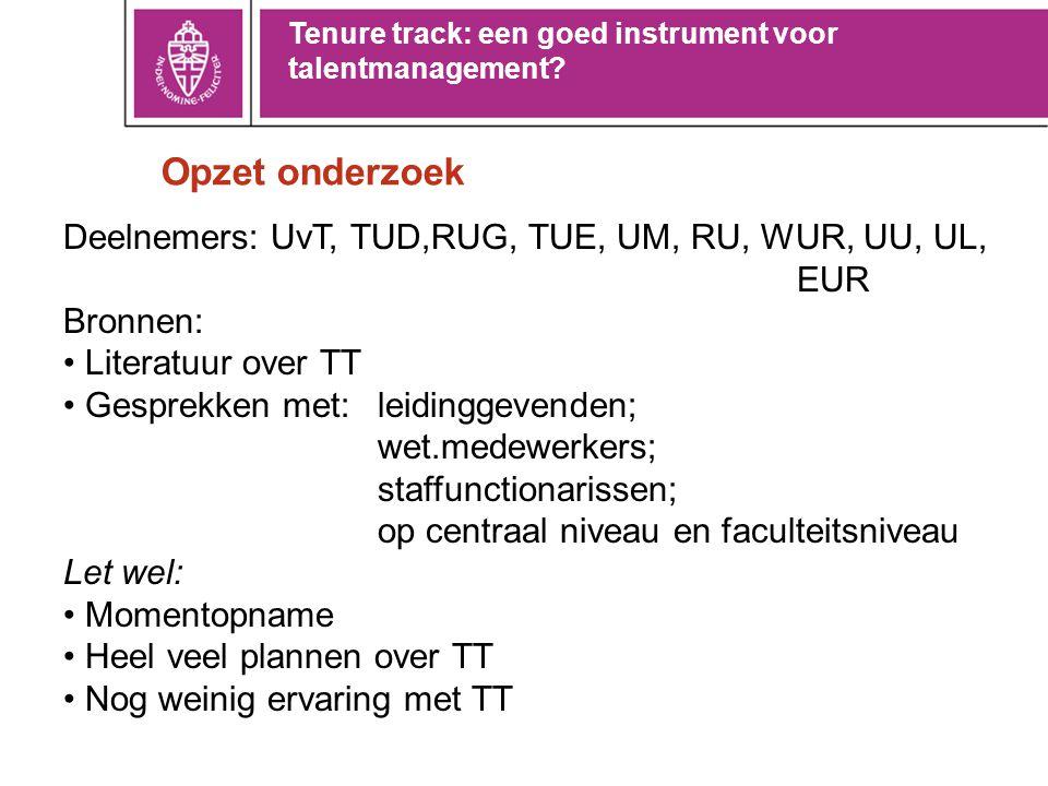Wat is tenure track.