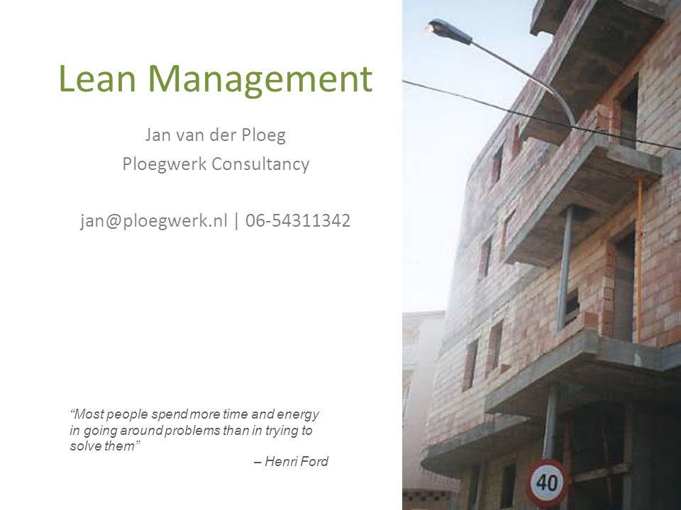 Vormen van verspilling (Muda) 1.Overproductie We geven de klant meer dan nodig voor de klant.