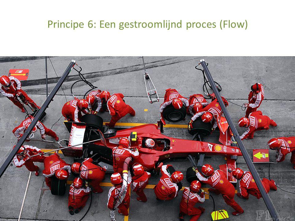 Principe 6: Een gestroomlijnd proces (Flow)
