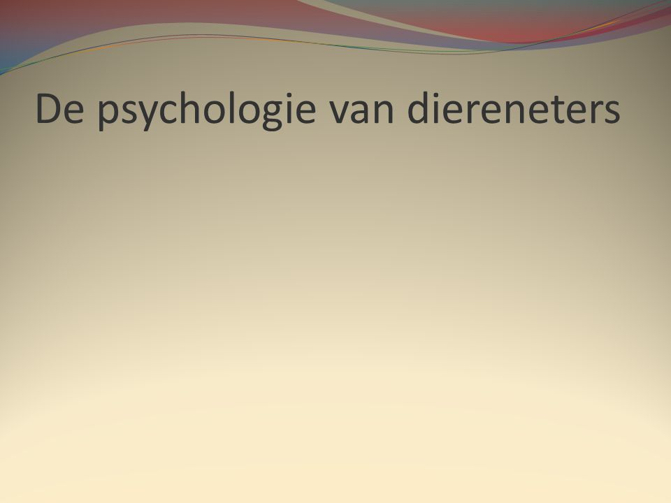 De psychologie van diereneters