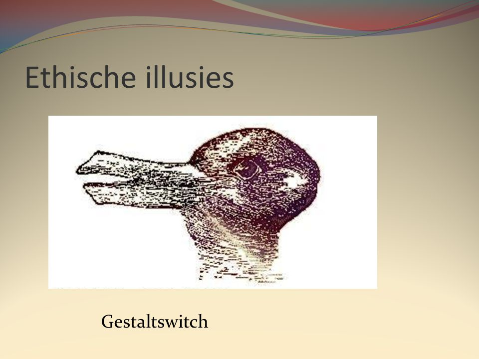 Ethische illusies Gestaltswitch