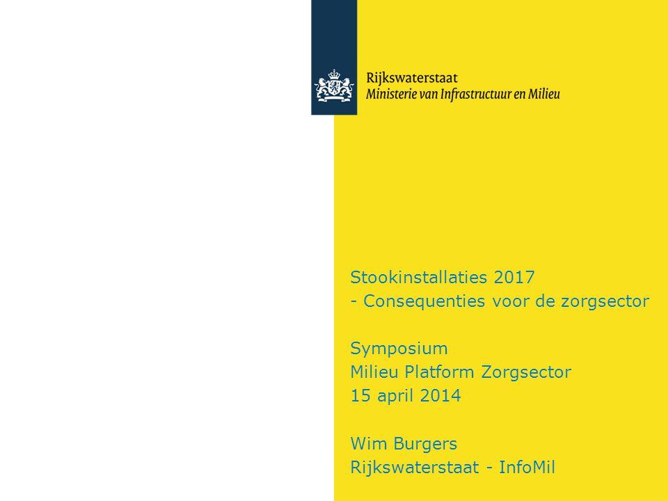 Stookinstallaties 2017 - Consequenties voor de zorgsector Symposium Milieu Platform Zorgsector 15 april 2014 Wim Burgers Rijkswaterstaat - InfoMil