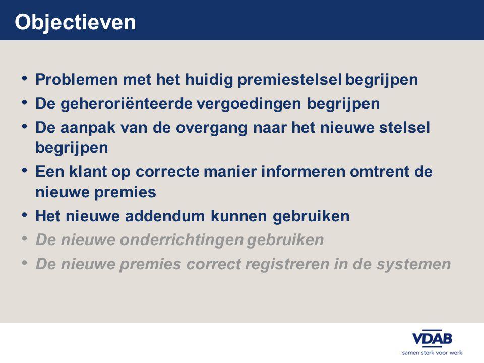 Overgang naar nieuwe stelsel - varia • Wijzigingen in de toepassingen vanaf 1/1/2008 • Helpdesk vergoedingen voor VDAB en partners • Recentste info via intranet en internet raadpleegbaarinternet cursistenvergoedingen@vdab.be