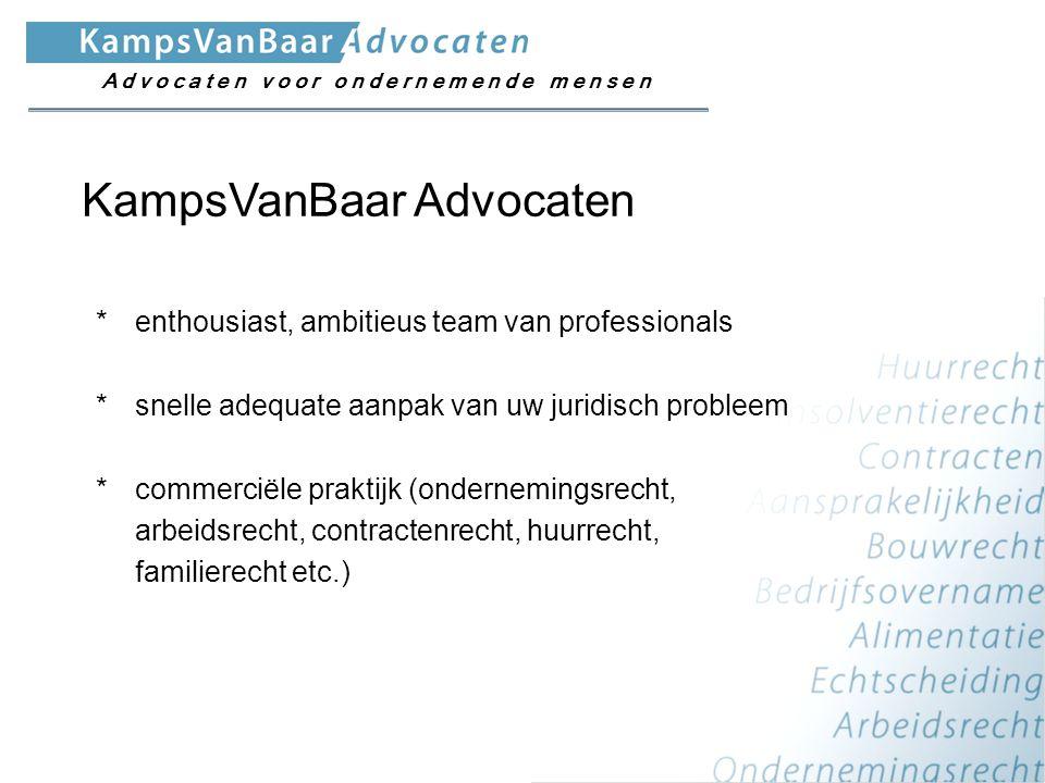 *enthousiast, ambitieus team van professionals *snelle adequate aanpak van uw juridisch probleem *commerciële praktijk (ondernemingsrecht, arbeidsrech