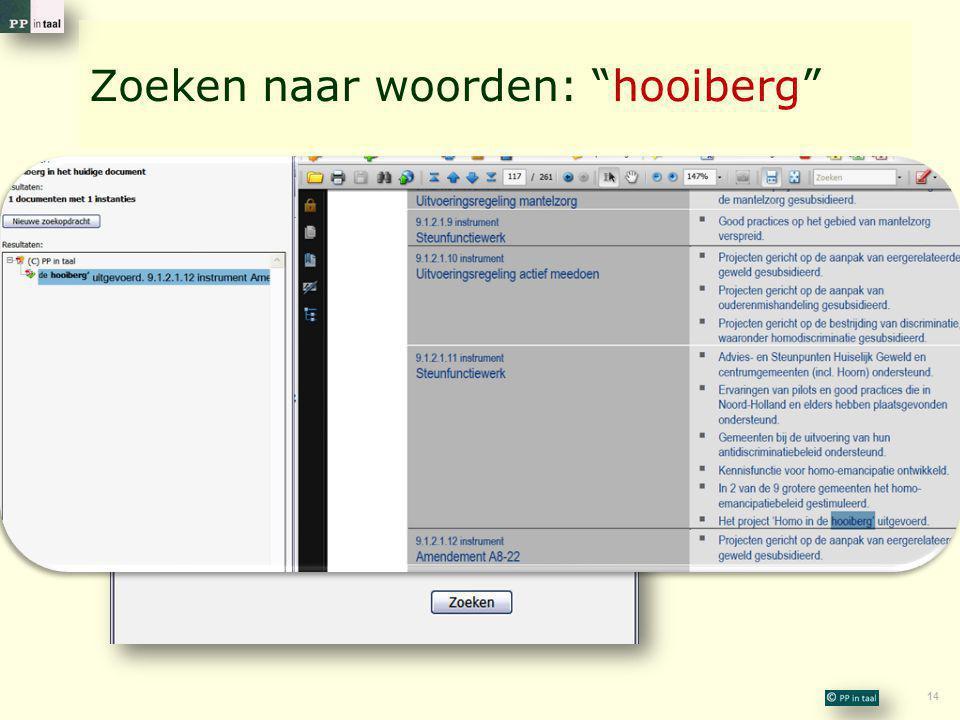 """14 Zoeken naar woorden: """"hooiberg"""""""