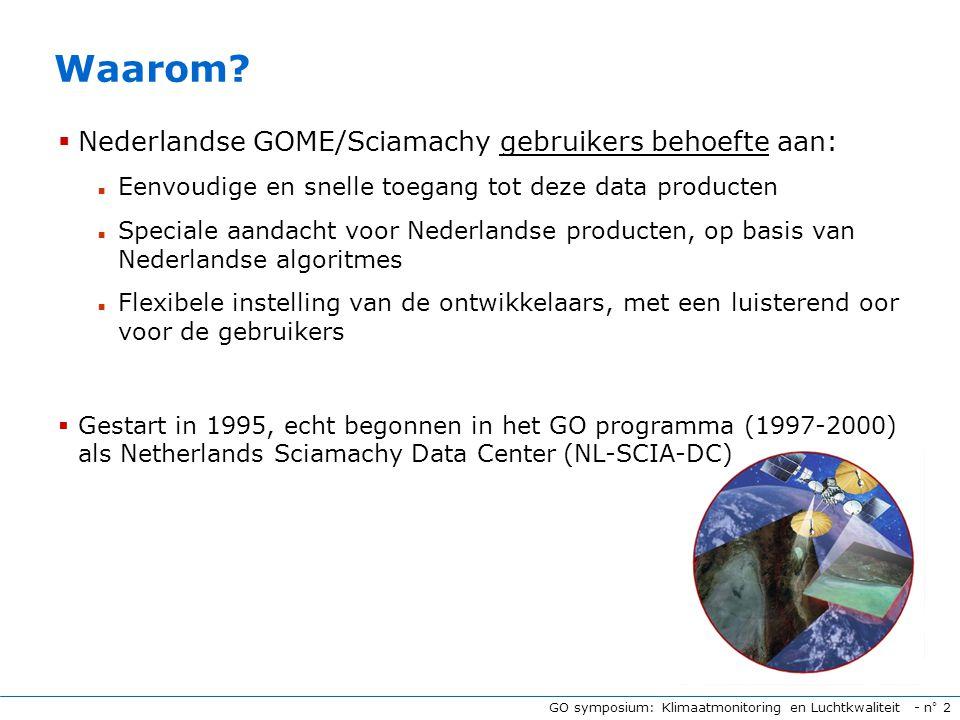 GO symposium: Klimaatmonitoring en Luchtkwaliteit - n° 2 Waarom.