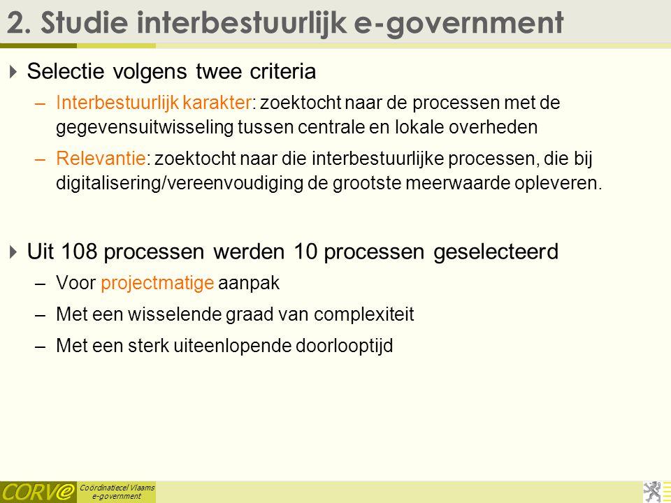 Coördinatiecel Vlaams e-government 2.