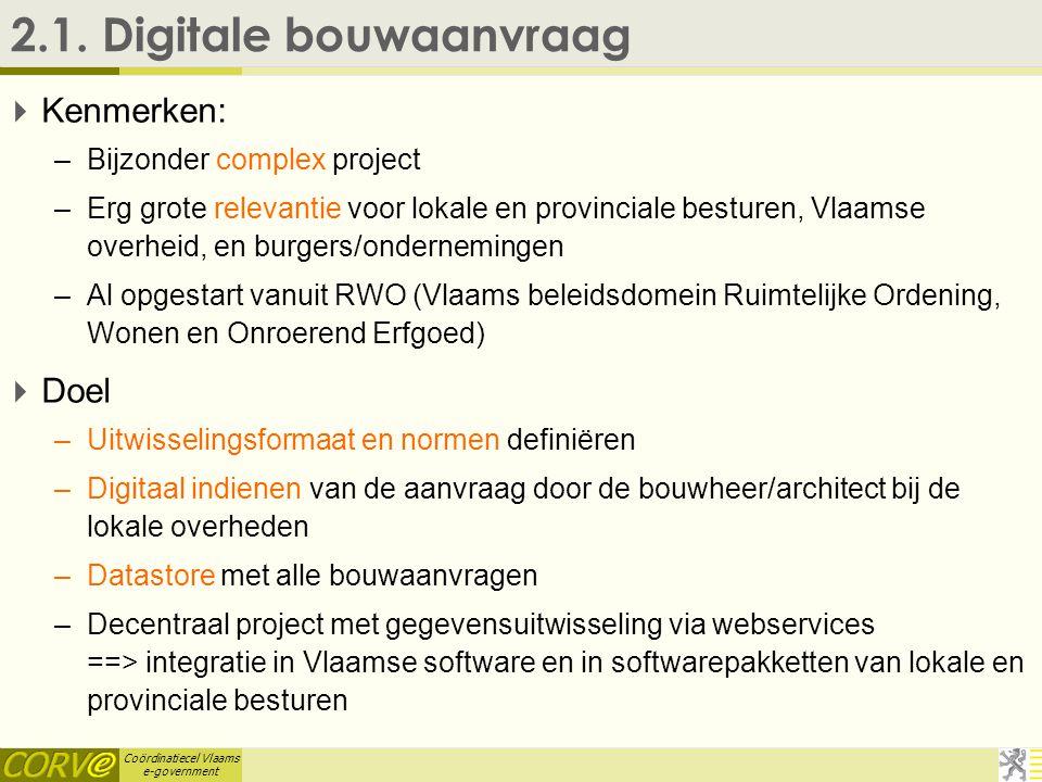 Coördinatiecel Vlaams e-government 2.1.