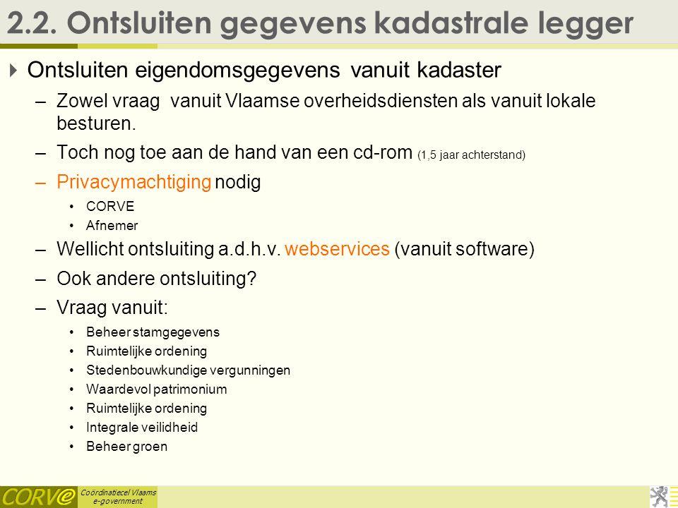 Coördinatiecel Vlaams e-government 2.2.