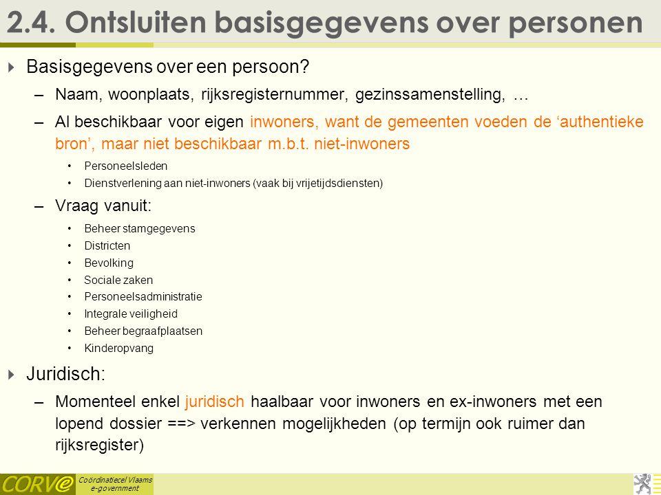 Coördinatiecel Vlaams e-government 2.4.