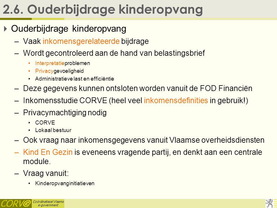 Coördinatiecel Vlaams e-government 2.6.