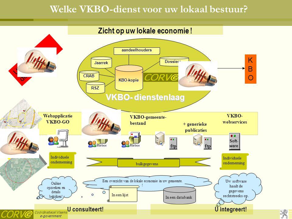 Coördinatiecel Vlaams e-government Zicht op uw lokale economie .
