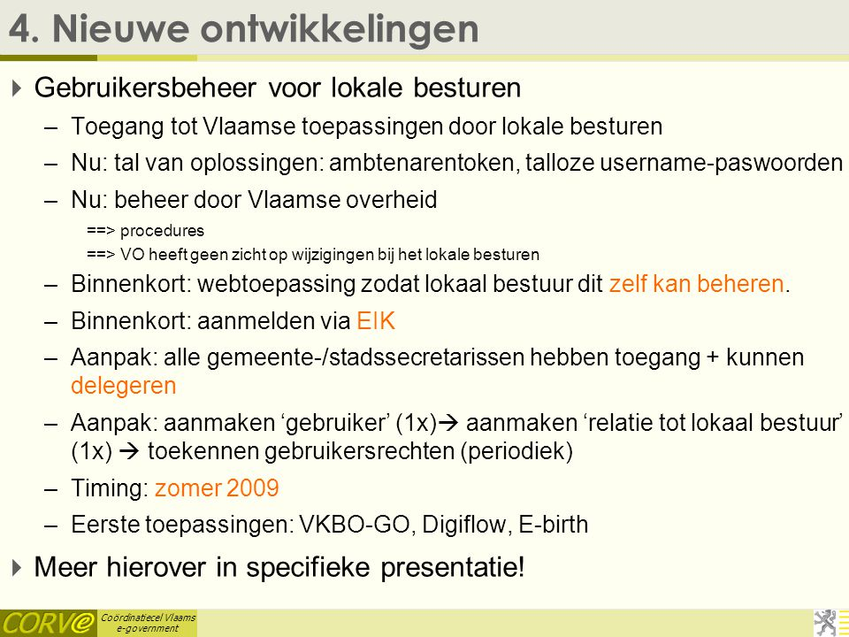 Coördinatiecel Vlaams e-government 4.