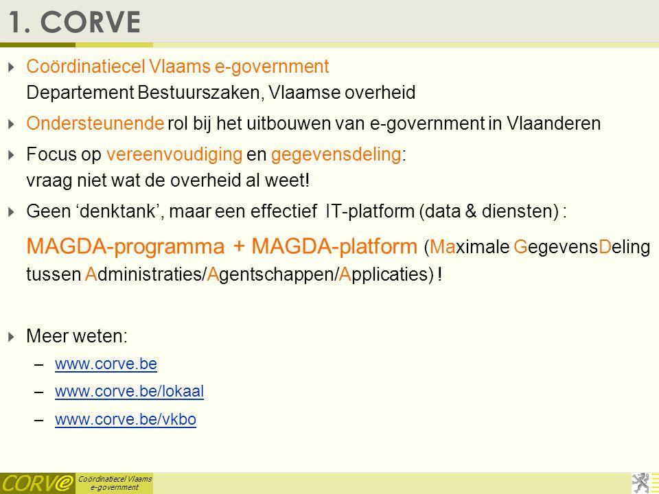 Coördinatiecel Vlaams e-government 1.
