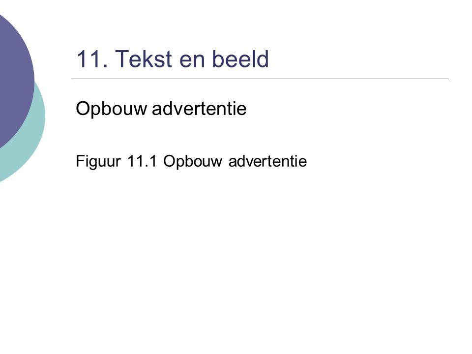 11. Tekst en beeld Opbouw advertentie Figuur 11.1 Opbouw advertentie
