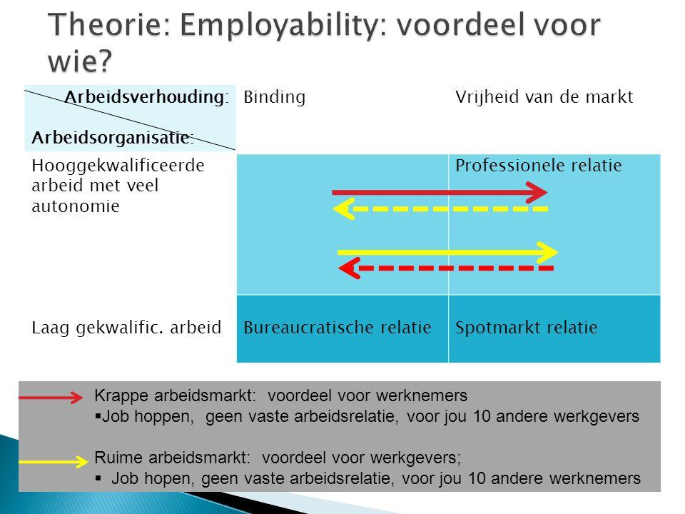 1.Voorwaarden voor autonomie en creativiteit; 2. Beloning en andere materiële voorwaarden; 3.