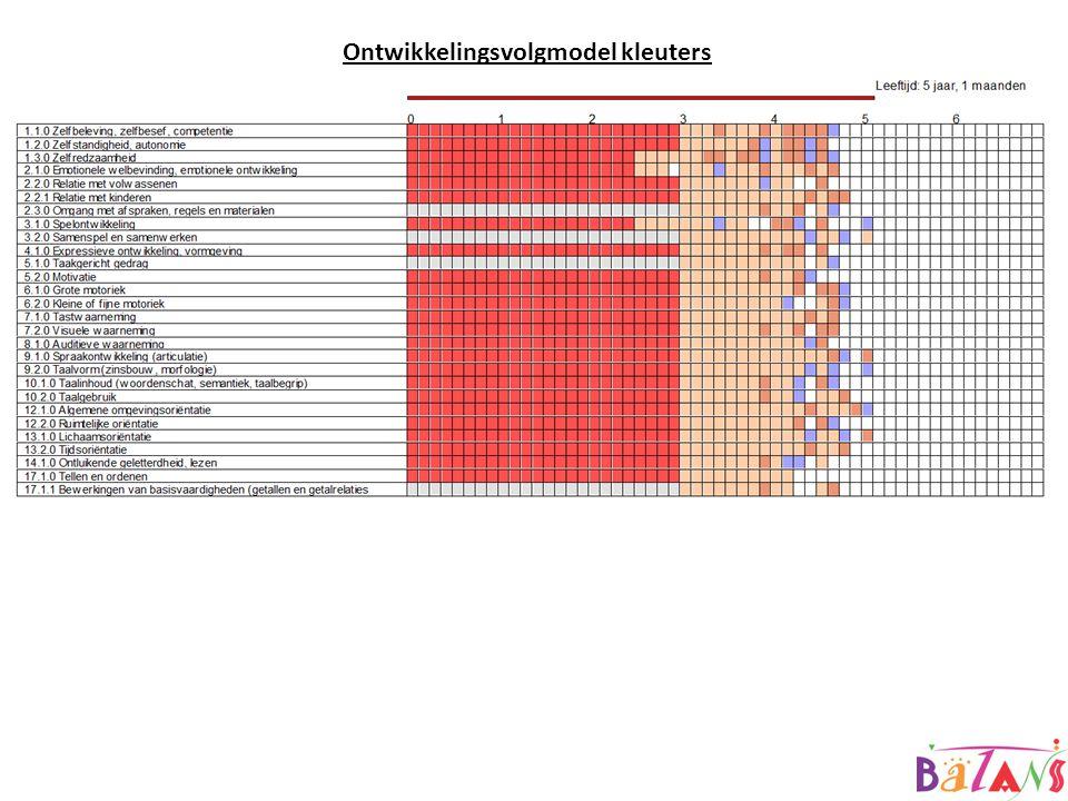 OVM Observatie instrument voor groep 1/2 waarin 21 leerlijnen worden gevolgd.