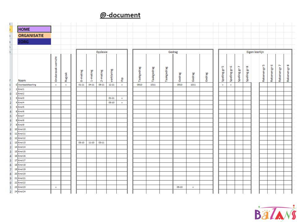 @GroepXX Document waarin alle overige gegevens (niet in zoma te plaatsen) genoteerd worden.